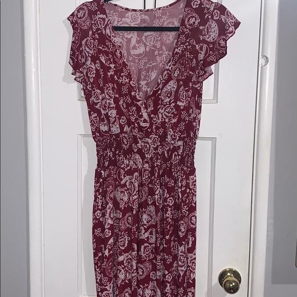 Dresses & Skirts - Floral Maroon Bodysuit